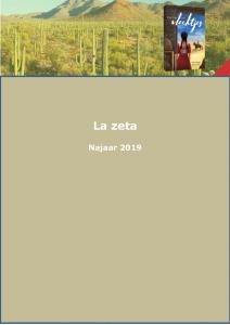 Najaarsfolder La zeta 2019